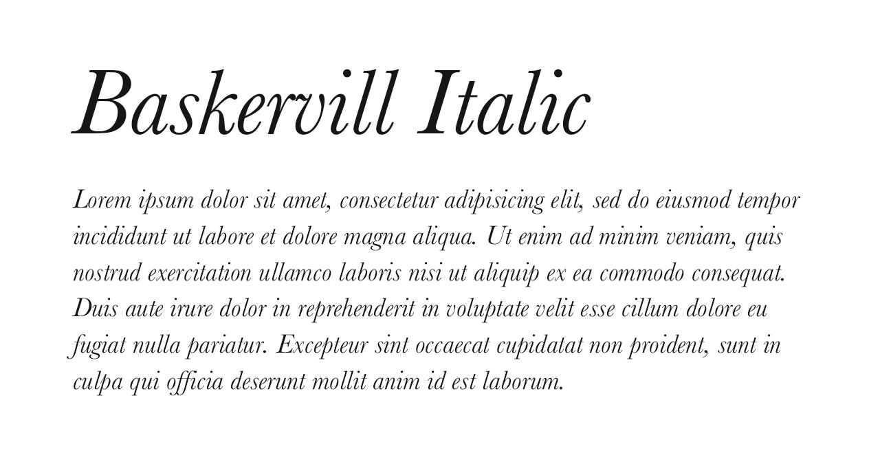 Baskervill Italic