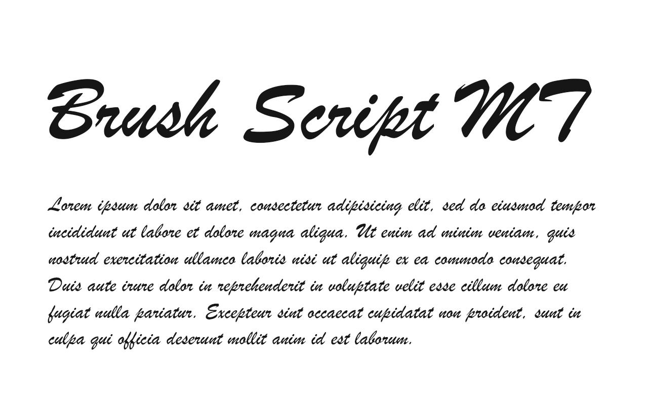 Brush Script MT